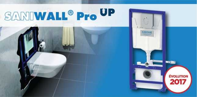 SANIWALL PRO UP EN VERRE