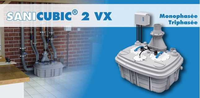 SANICUBIC 2 VX VERSION MONOPHASEE - CLAVIER SMART