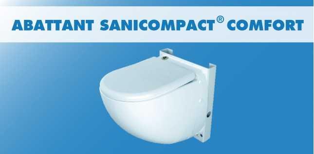 ABATTANT SANICOMPACT COMFORT (C6)