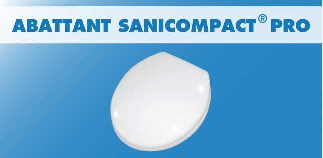 ABATTANT SANICOMPACT PRO (C4)