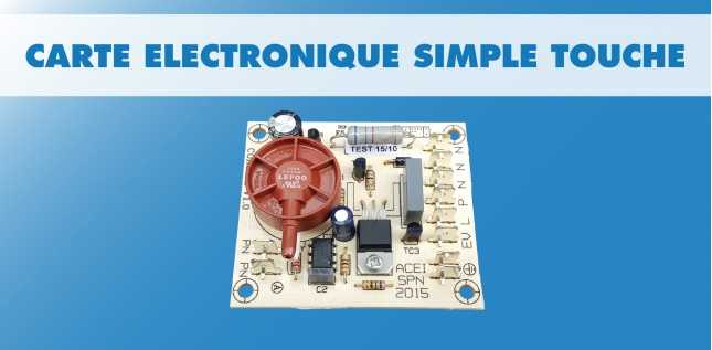 CARTE STANDARD BOUTON PNEUMATIQUE