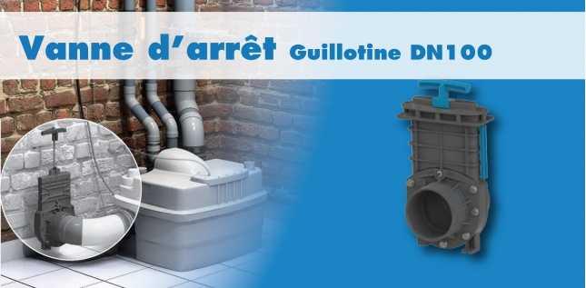 VANNE D'ARRET GUILLOTINE DN50